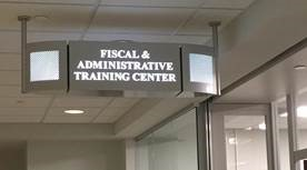 Fiscal & Administrative Training Center Sign